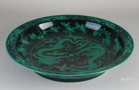 Large Chinese dragon dish