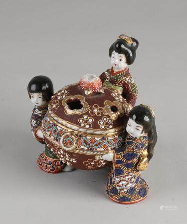 Japanese Satsuma incense burner