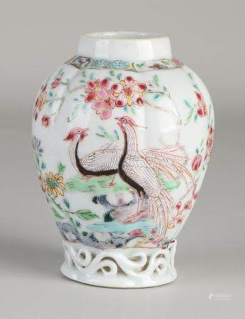 Chinese Family Rose tea caddy