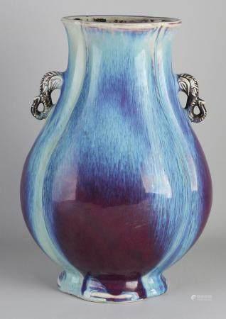 Chinese vase, H 37.5 cm.