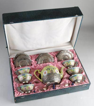 Chinese Family Rose tea service