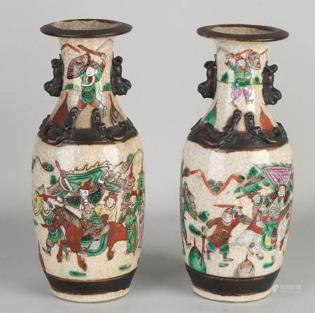 2 Chinese Canton vases