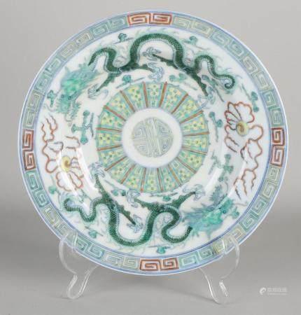 Chinese plate Ø 22.5 cm.