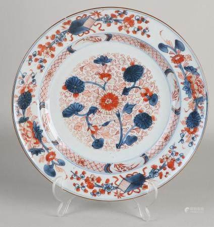 Chinese Imari plate Ø 27.5 cm.