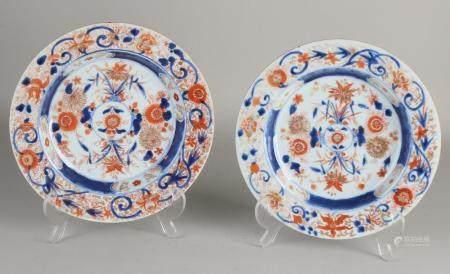 2 Chinese plates Ø 22.3 cm.