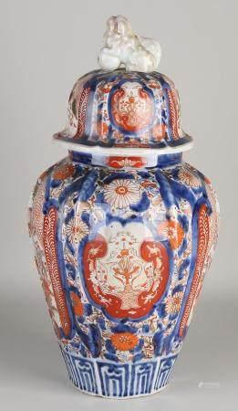 Japanese Imari jar with lid
