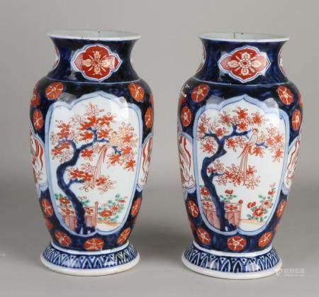 2 Japanese Imari vases