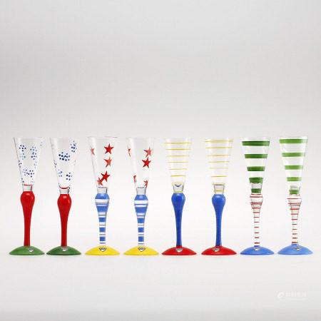 "A Set of Snaps Glass, ""Clown"", Ann Nilsson, Orrefors."