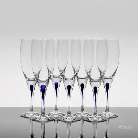 A Set of Wine Glass, Intermezzo, Erika Lagerbielke, Orrefors.