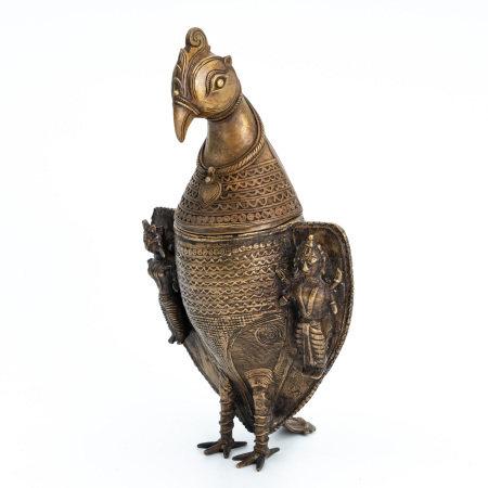 A gilt bronze Nepali style vase