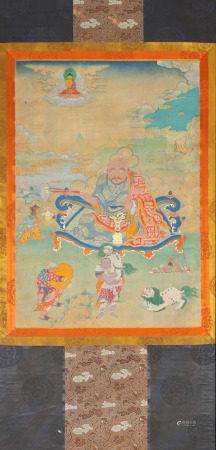 Thangka Depicting Eighteen Arhats
