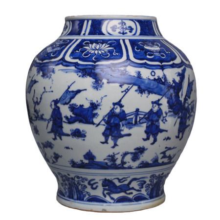 A huge blue and white Vase