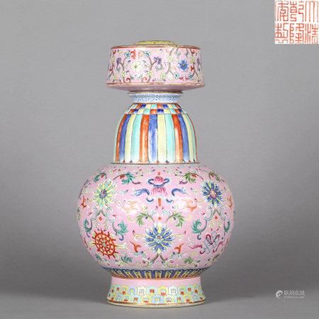 Famille Rose Bumpa Qianlong Dynasty