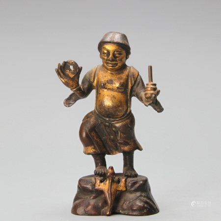 Bronze Standing Figure Ming Dynasty