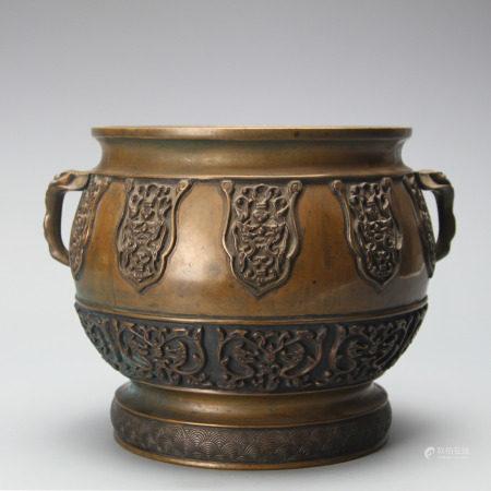 Bronze Chilong Censer