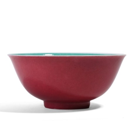A CHINESE ROSE-PINK BOWL