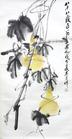 葫蘆螳螂 書法對聯