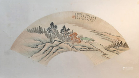 鄭午昌 山水扇面