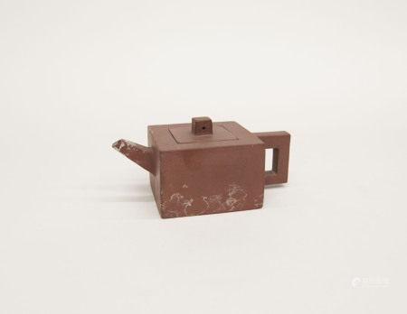 清代-四方紫砂壺