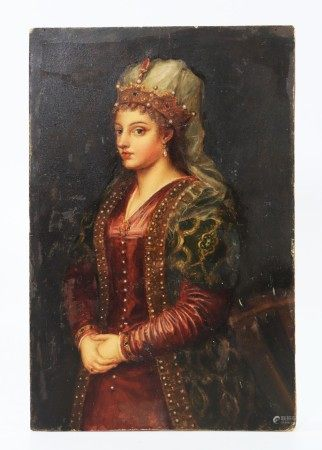 After Titian Roxelana or Caterina Oil Painting