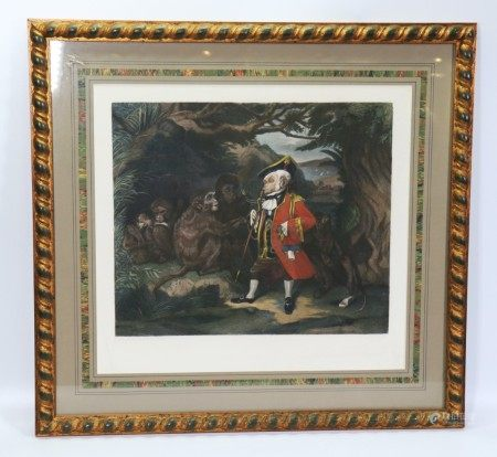 Edwin Landseer; Traveled Monkey Engraving