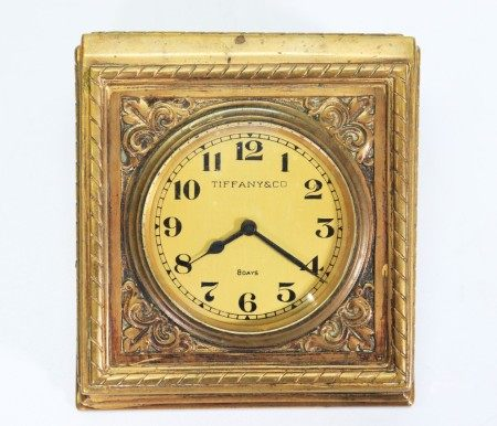 Tiffany & Co Medieval Design Bronze Desk Clock