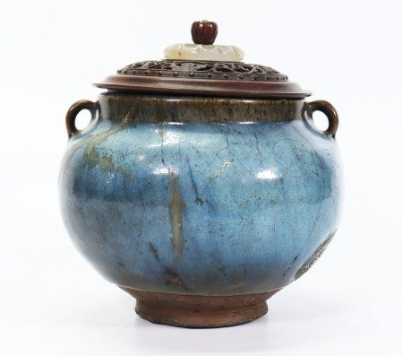 Rare Chinese Ming or Earlier Junyao Porcelain Jar