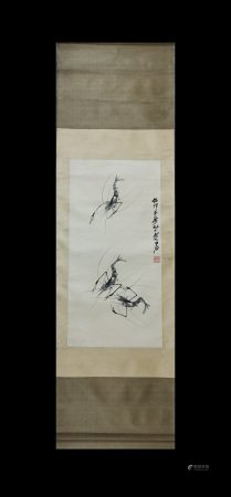 LOBSTERS SCROLL BY QI BAISHI