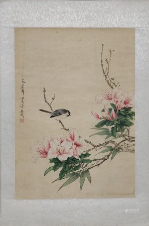 BIRDS FLOWERS PAINTING BY YU FEIYIN