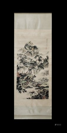 LANDSCAPE SCROLL BY CHEN SHAOMEI