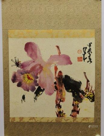 趙少昂 花卉 紙本鏡片