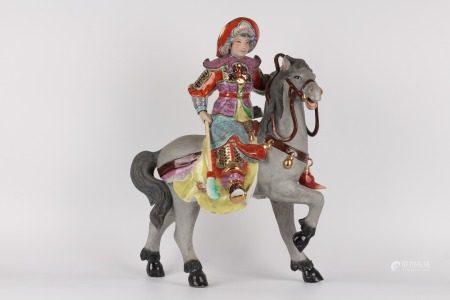 雕塑瓷廠-人物雕像花木蘭擺件