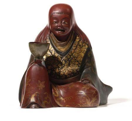 JAPON Figurine du panthéon bouddhique représentant…