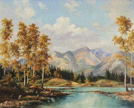 An oil on masonite framed painting