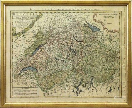 A Vintage Historical Switzerland Map