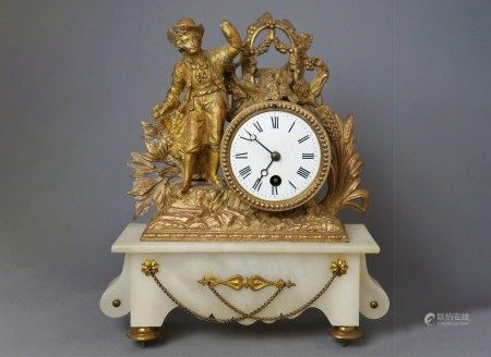 A Vintage French Figural Clock