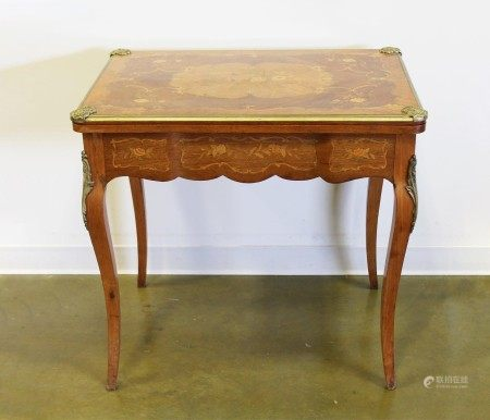 A Vintage Marquetry Game Table