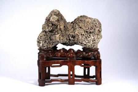 A Horizontal Chinese Scholar's Rock