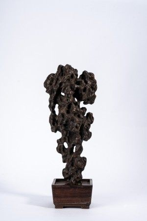 Chinese Aromatic Sandalwood 'Scholar's Rock' Carving