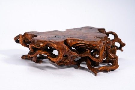 Chinese Boxwood Carved Scholar's Stand