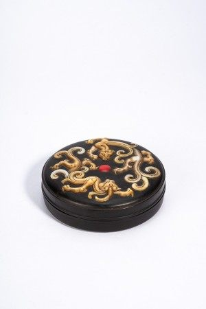 Chinese Zitan Mother of Pearl Dragon Box