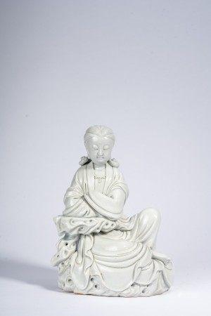 Blanc De Chine Glaze Model of Guan Yin