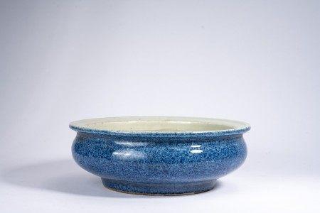 Chinese Blue Glazed Brush Washer