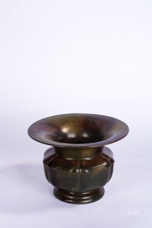 Chinese Tea Dust Glazed Vase