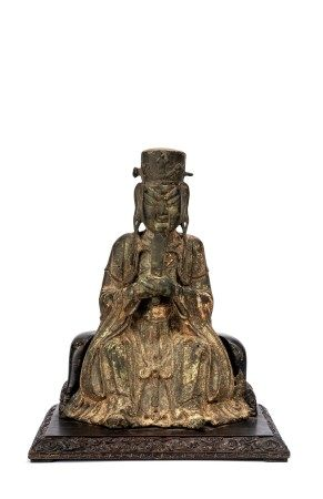 Chinese Copper Figure of Taoist Immortal