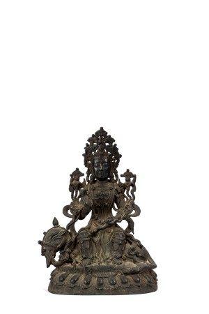 Chinese Copper Figure of Samantabhadra