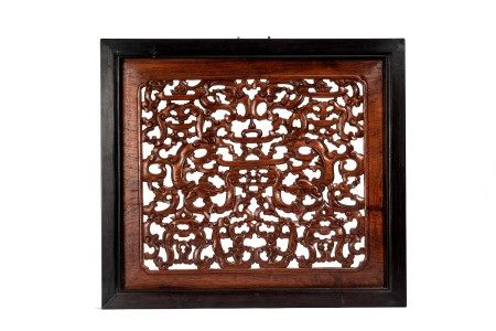 Chinese Huanghuali Reticulated Wall Panel