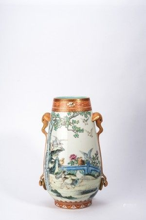 Chinese Imperial Style Famille Rose 'Birds' Vase
