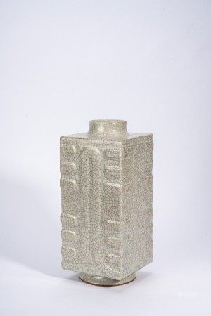 Chinese 'Ge' Type Cong-Form Vase