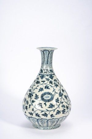 Chinese Blue and White 'Floral Scrolls' Vase